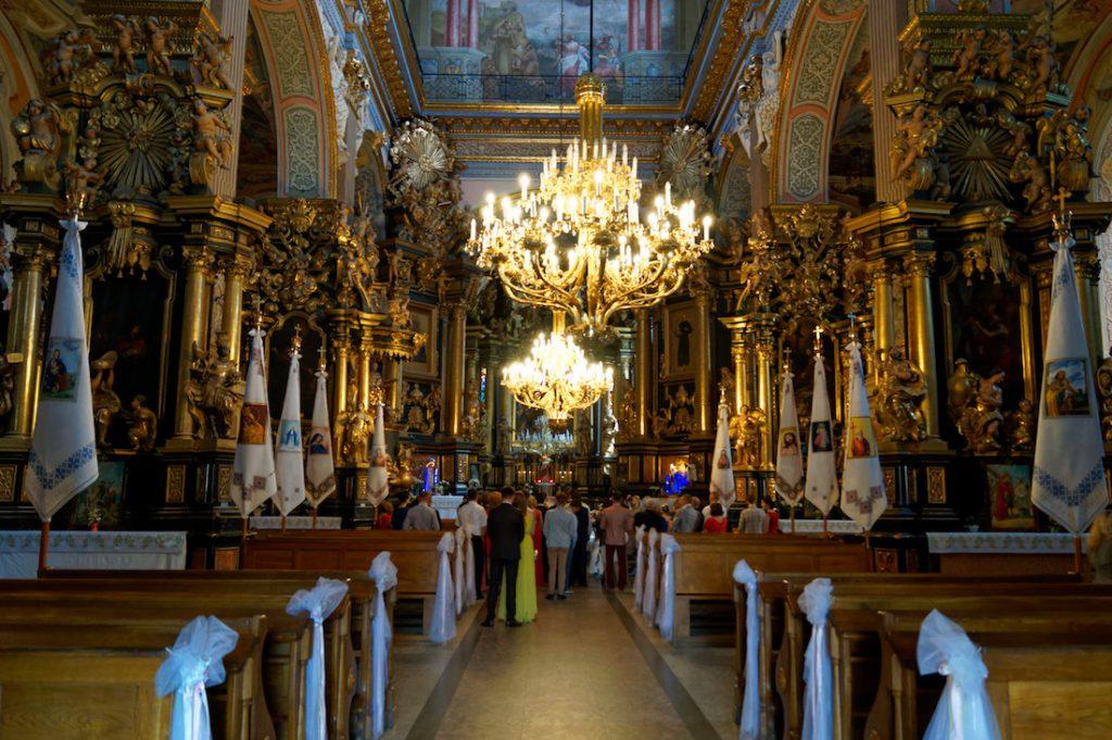 Wnętrze dawnego Klasztoru Bernardynów, obecnie Cerkwi św. Andrzeja