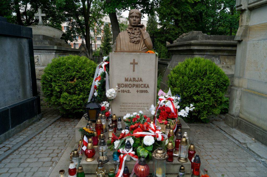 Grób naszej poetki Marii Konopnickiej