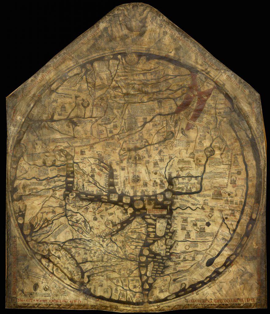 Mapa z Hereford - Średniowieczna mapa świata z 1300 roku
