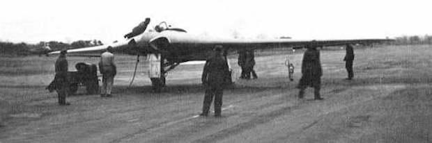 Prototypowy samolot III Rzeszy - Horten Ho 229 w układzie latającego skrzydła