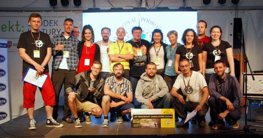 Uczestnicy III Festiwalu Podróżniczego w Środzie Wielkopolskiej