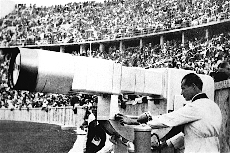 Kamery telewizyjne na Stadionie Olimpijskim w Berlinie, sierpień 1936 roku - Nowe technologie i wynalazki w służbie III Rzeszy