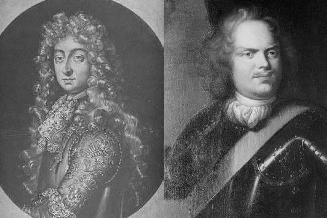 Książę Lotaryngii Karol V Lotaryński i elektor Saksonii Jan Jerzy III Saksoński