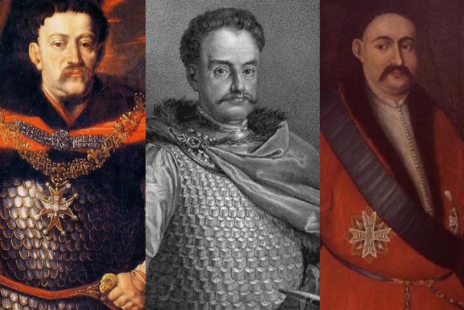 Król Jan III Sobieski, hetman Stanisław Jan Jabłonowski i hetman Mikołaj Hieronim Sieniawski