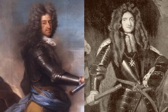 Elektor Bawarii Maksymilian II Emanuel i książę Jerzy Fryderyk von Waldeck