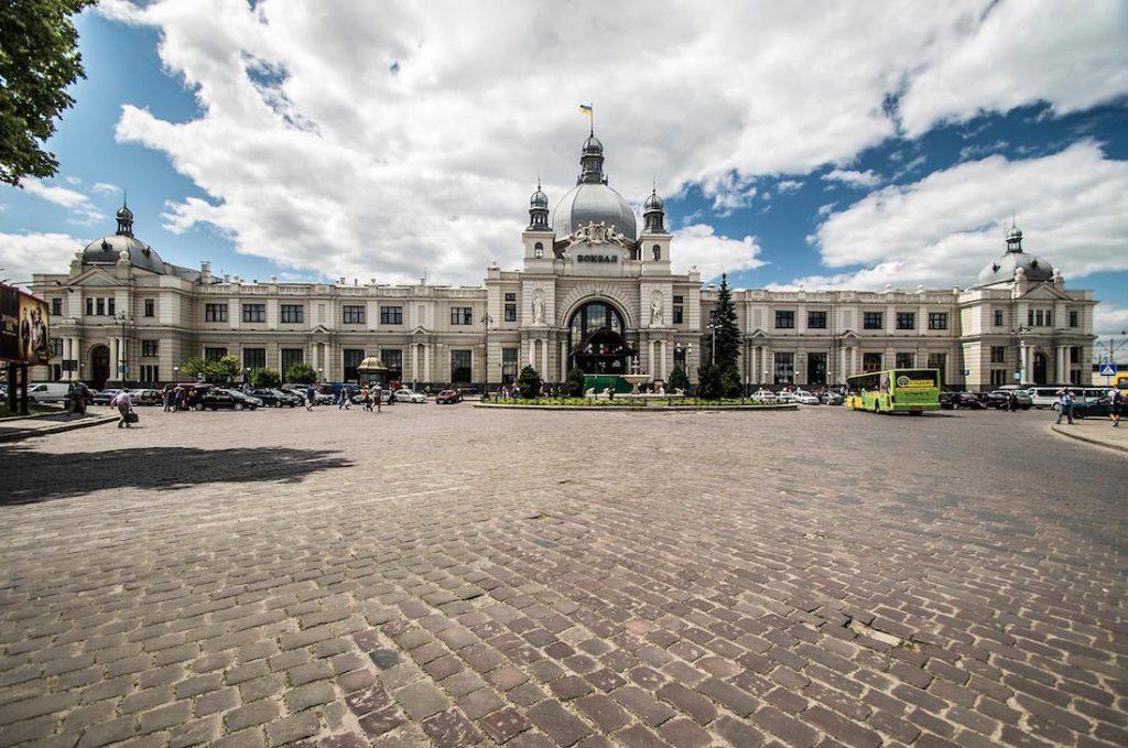 Dworzec Kolejowy Lwów Główny - Zabytki Lwowa - Foto: Adrian Sitko