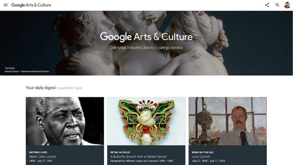 Google Arts & Culture - Multimedialna Baza Dzieł Sztuki