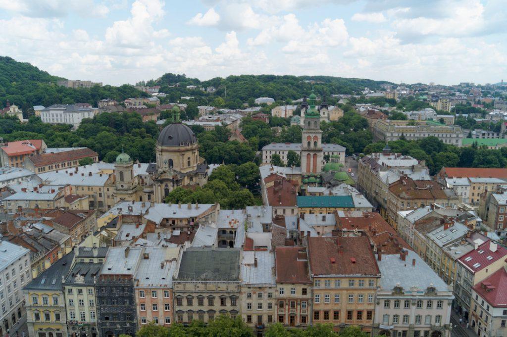 Widok z wieży Ratusza na Stare Miasto