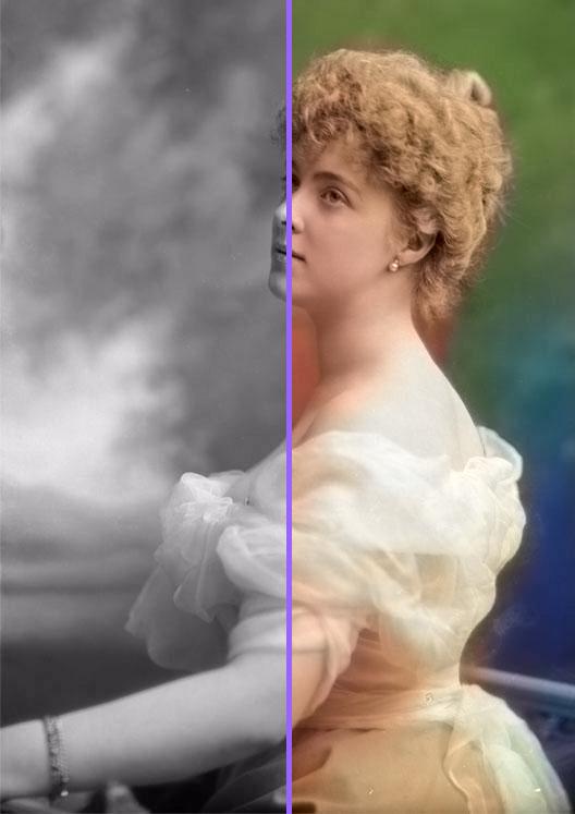 Księżna Daisy von Pless - po koloryzacji