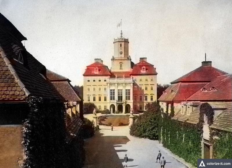 Zamek Książ - po koloryzacji