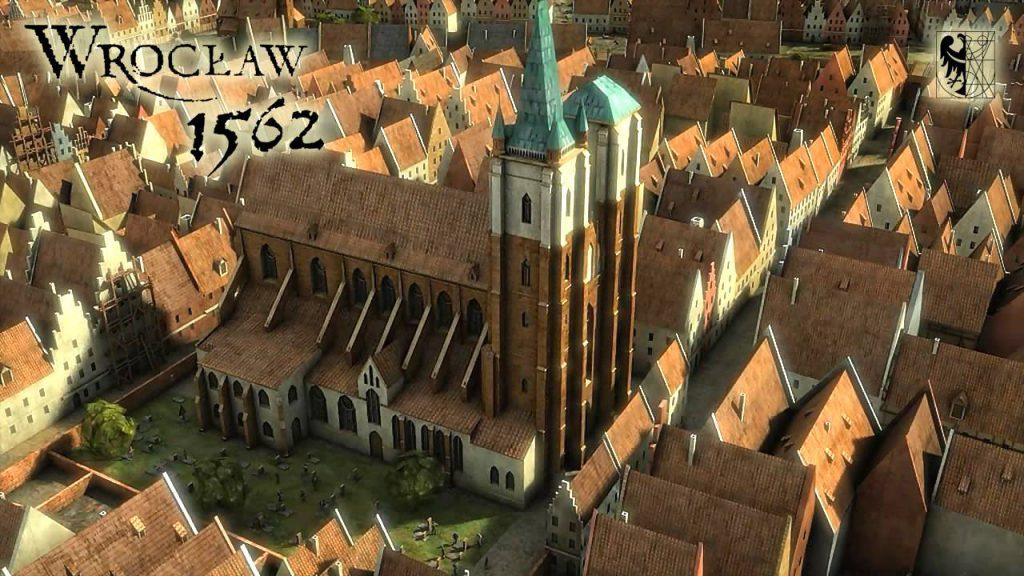 Kościół św. Marii Magdaleny we Wrocławiu - warto zwrócić uwagę, że tuż przy kościele znajdował się cmentarz