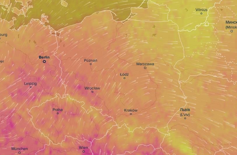 VentuSky pozwala śledzić prognozę pogody w naszym najbliższym regionie - Interaktywna Mapa Prognozy Pogody
