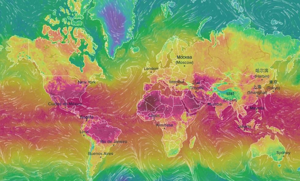 Możemy również śledzić numeryczną prognozę pogody w dowolnym innym miejscu na świecie - Interaktywna Mapa Prognozy Pogody