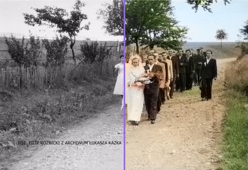Powojenni mieszkańcy Walimia - po koloryzacji