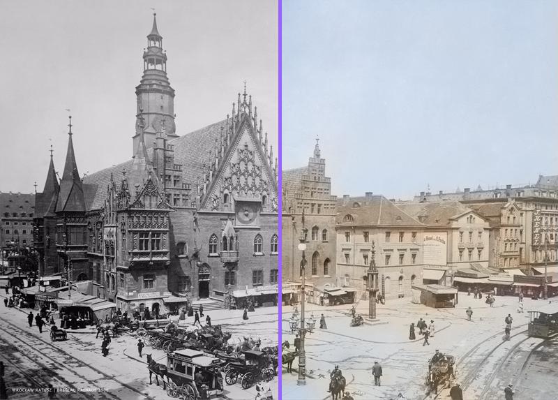 Wrocław Rynek - po koloryzacji