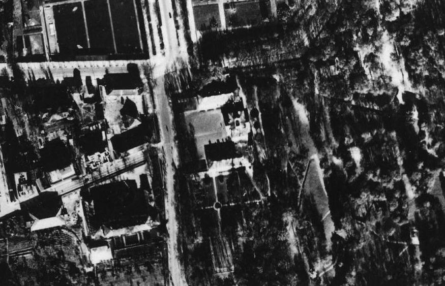 Belweder - Przedwojenna Warszawa na zdjęciach lotniczych z 1935 roku
