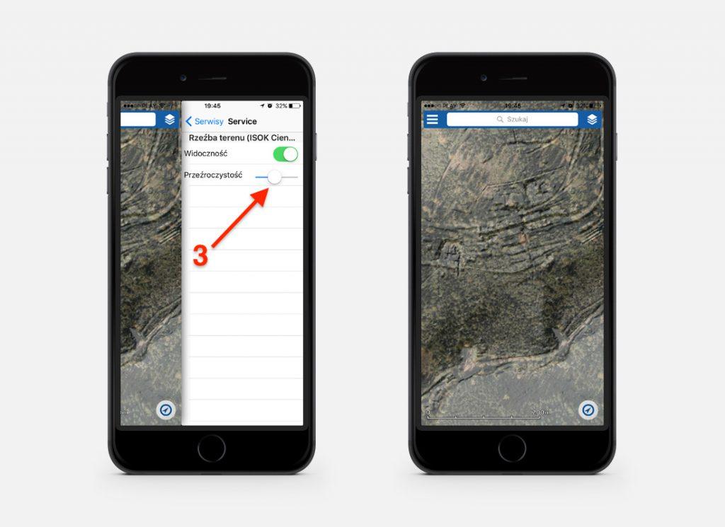 Nałożenie na siebie dwóch warstw (obrazu LIDAR i satelitarnego) daje bardzo ciekawe efekty