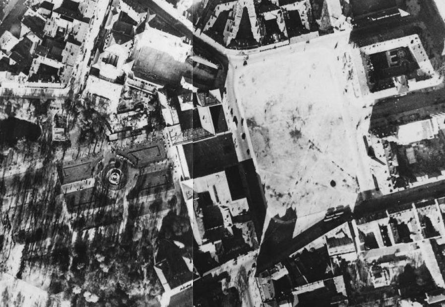 Pałac Saski i plac Józefa Piłsudskiego w 1935 roku - Pałac Saski został zniszczony podczas wojny