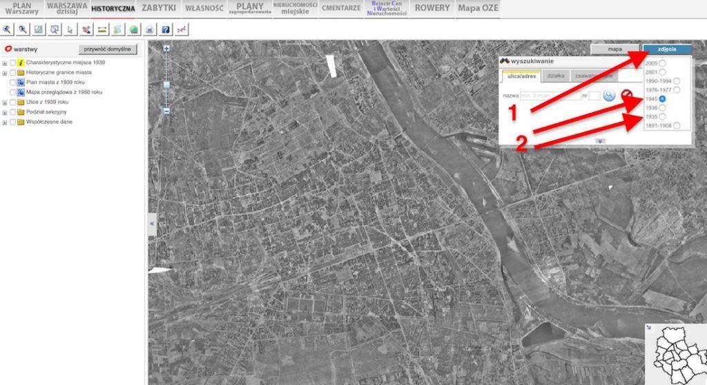 Zniszczona Warszawa - Jak porównać zdjęcia lotnicze miasta przed i po wojnie?