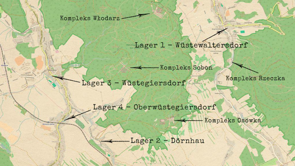 Zbiorcze obozy pracy tzw. Gemeinschaftslager wykorzystywane przy budowie Riese