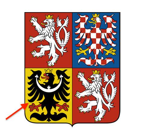 Herb Republiki Czeskiej i herb Śląska