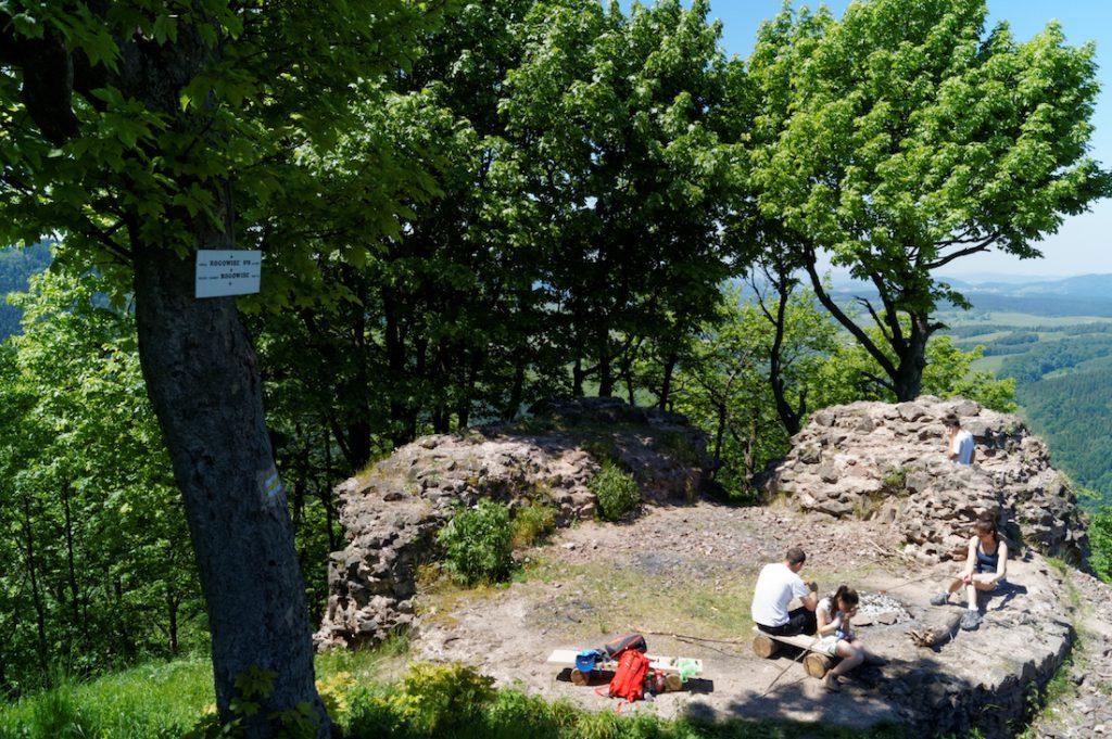 Po Zamku Rogowiec pozostały tylko niewysokie fragmenty murów