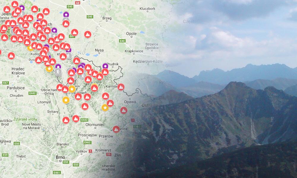 Najwazniejsze Szczyty Polskich Gor Mapa Szczytow Do Zdobycia