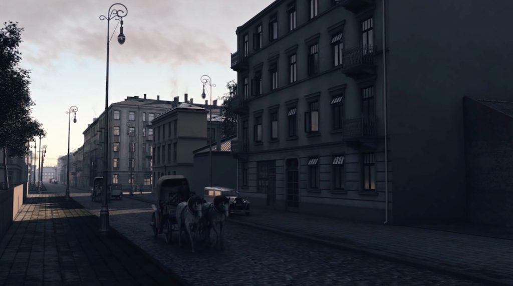 Warszawa 1935 Wola - ul. Żytnia widziana na wschód, tuż przed skrzyżowaniem z ul. Okopową