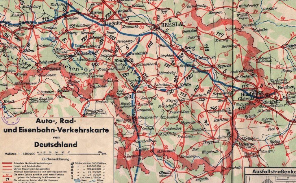 Zaplanowany przebieg autostrady Wrocław-Wiedeń na Dolnym Śląsku - Źródło: dolny-slask.org.pl