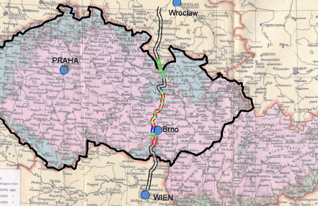 Przebieg autostrady Wrocław-Wiedeń - Reichsautobahn Breslau-Wien - Zaginiona autostrada Hitlera