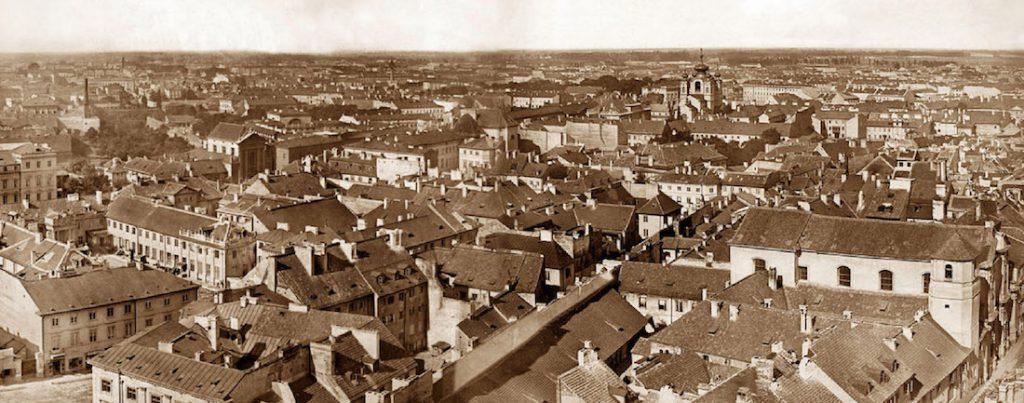 Fragment panoramy - Stara panorama Warszawy z 1873 roku