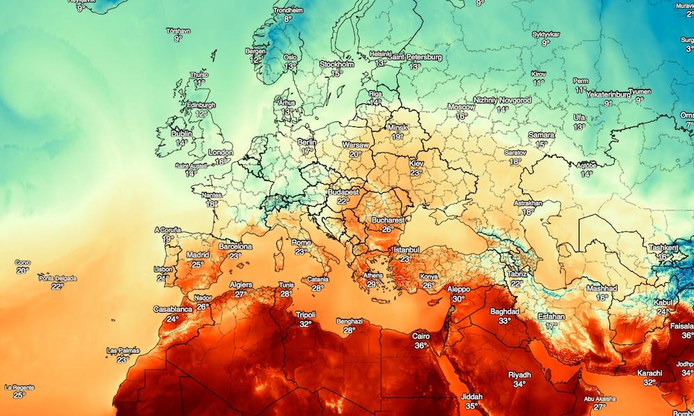 Globalna Mapa Temperatury I Innych Zjawisk Pogodowych Eloblog