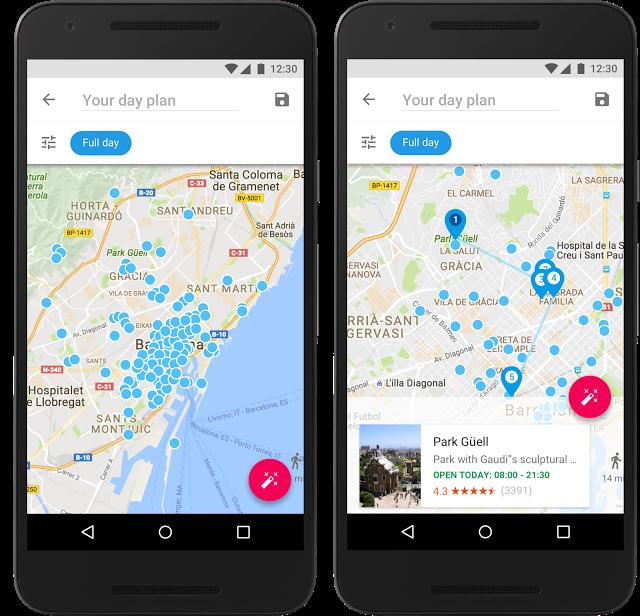 Google wykorzystuje w swojej aplikacji również swoje popularne mapy - Źródło: blog.google
