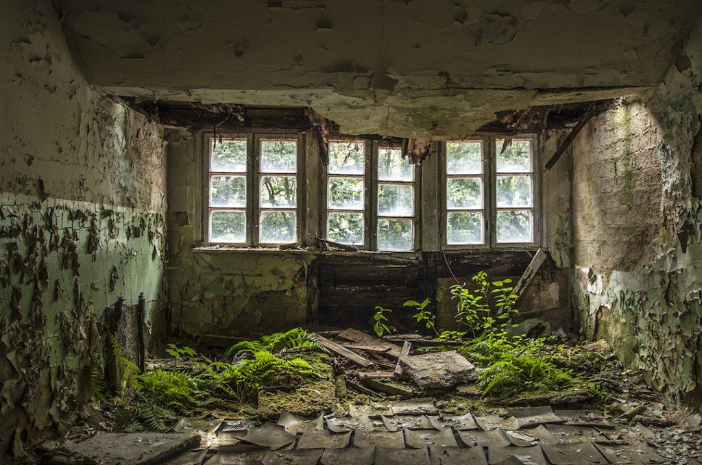 Szpital posiadał osobny budynek dla kuchni - Foto: Adrian Sitko