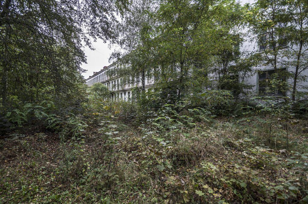 Budynki pozarastała już roślinność - Foto: Adrian Sitko