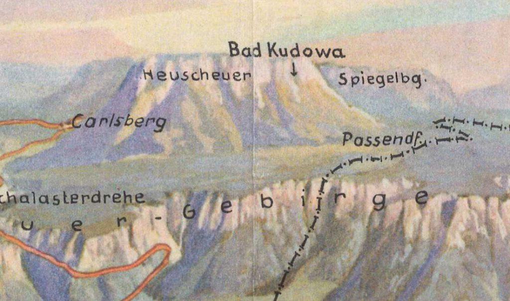 Szczeliniec Wielki i fragment Gór Stołowych