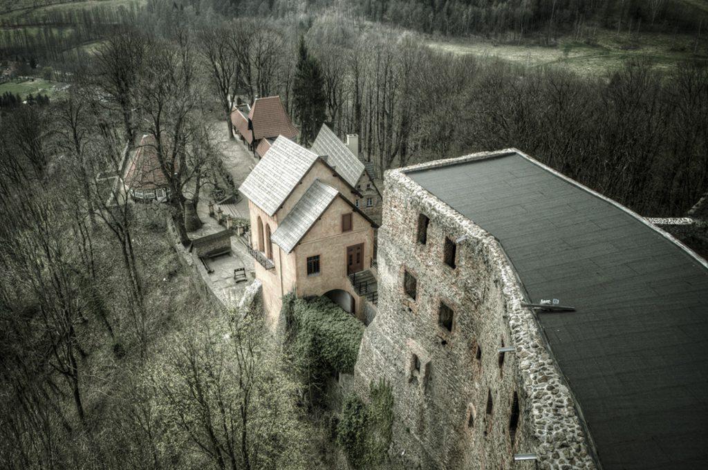 Widok z wieży Zamku Grodno