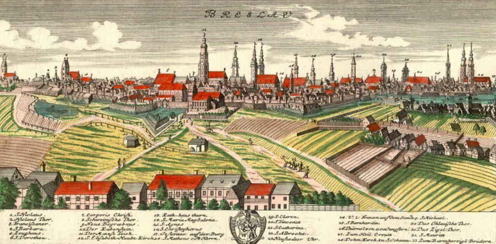 Wrocław (Breslau) - Rok 1737 - Tak wyglądały miasta 300 lat temu!