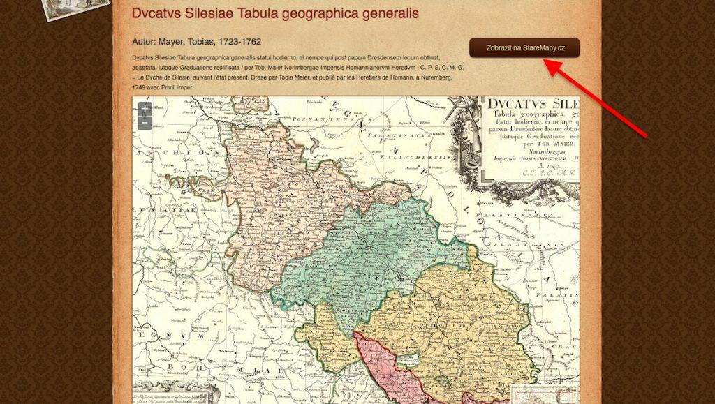 Archiwalna mapa Śląska w zdigitalizowanych zbiorach Morawskiej Bibliotek w Brnie