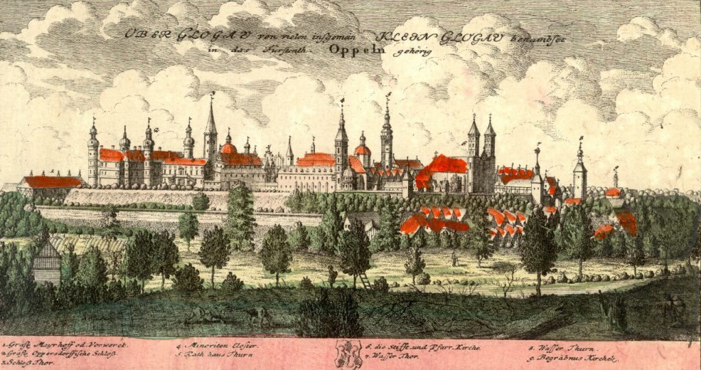 Głogówek (Klein Glogau) - Rok 1739