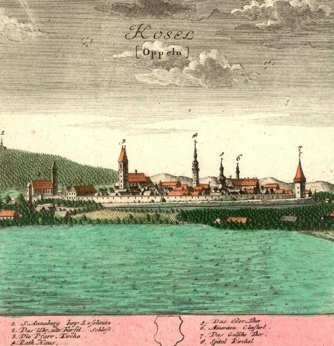 Koźle (Kędzierzyn-Koźle) (Kosel) - Rok 1739