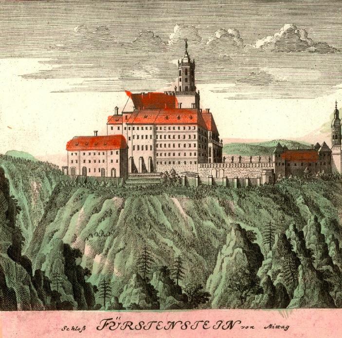 Zamek Książ (Scloß Fürstentstein) - Rok 1738