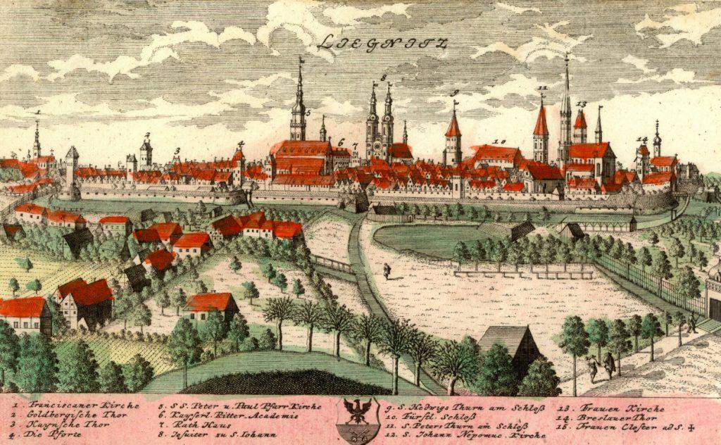 Legnica (Liegnitz) - Rok 1738