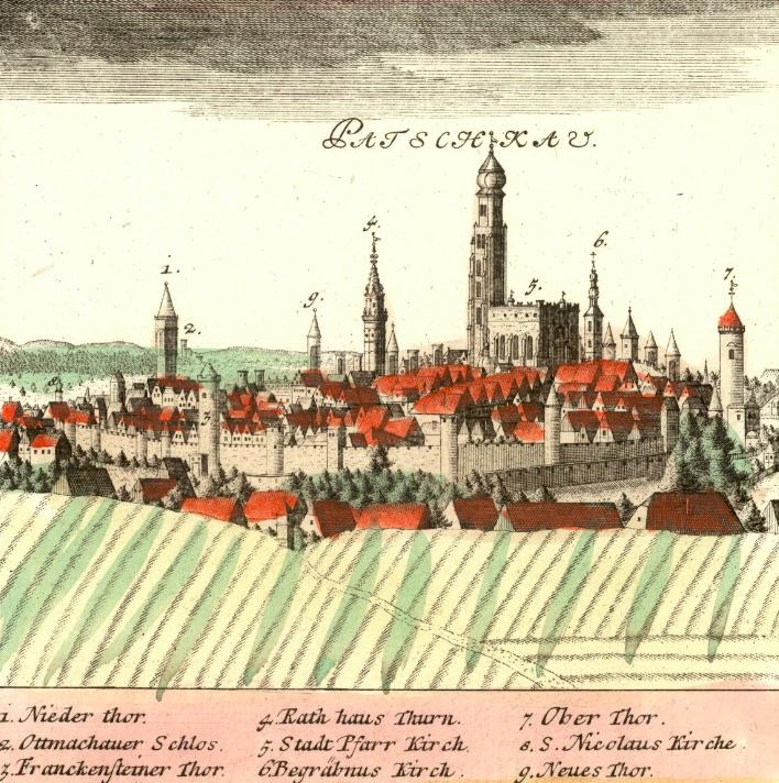 Paczków (Patschkau) - Rok 1738