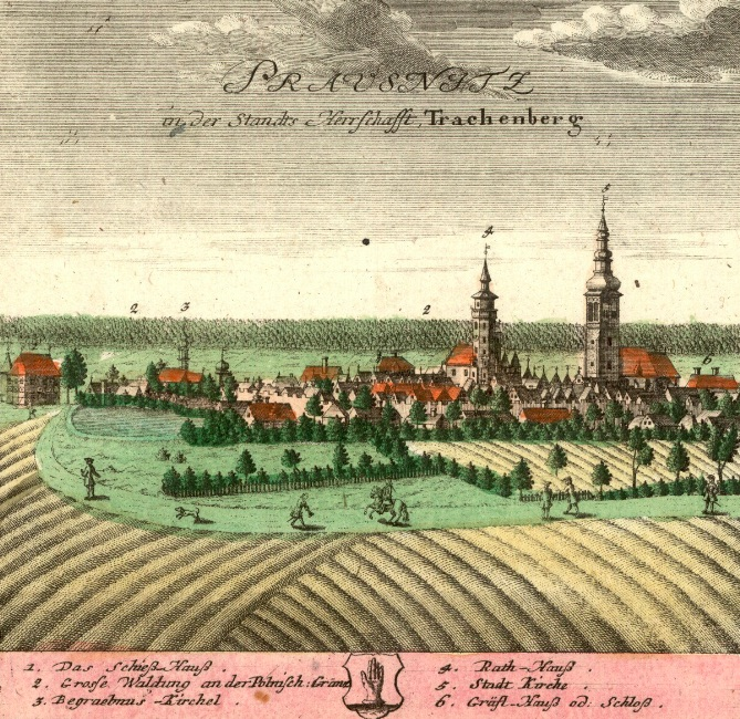 Prusice (Prausnitz) - Rok 1739