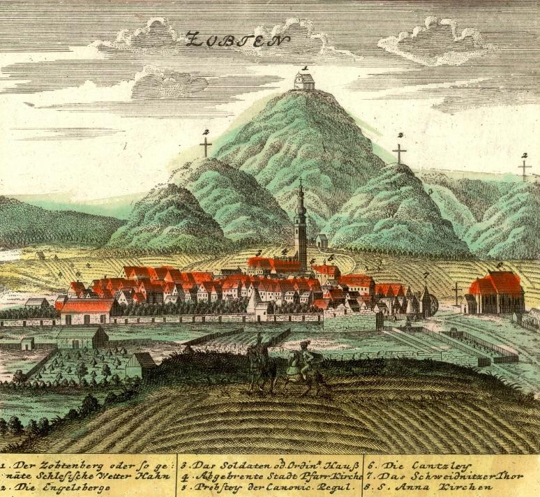 Sobótka (Zubten) i Ślęża - Rok 1738