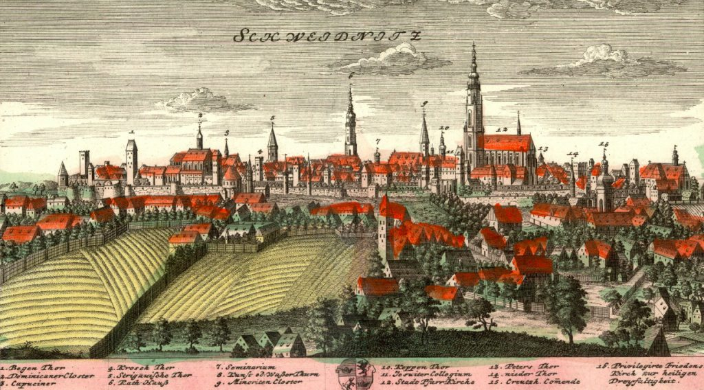 Świdnica (Schweidnitz) - Rok 1738