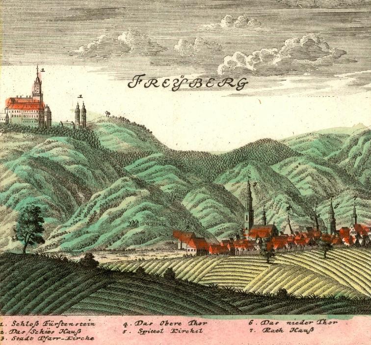 Świebodzice (Freyberg) - Rok 1738