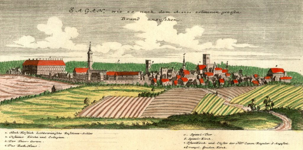 Żagań (Sagan) - Rok 1737