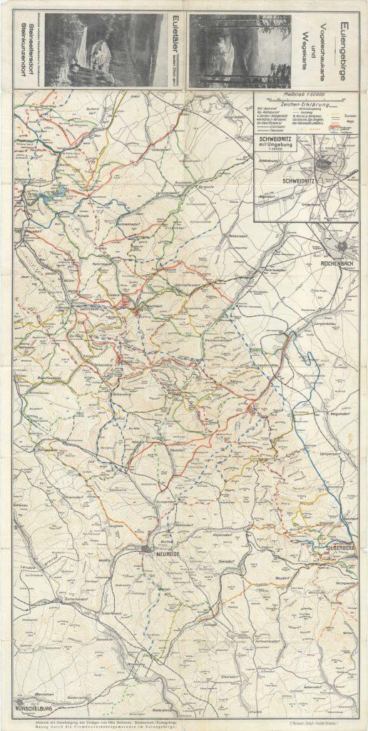 Przedwojenna mapa turystyczna Gór Sowich z 1937 roku